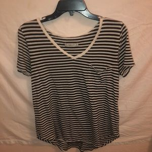 Abercrombie & Fitch Striped Pocket Tee